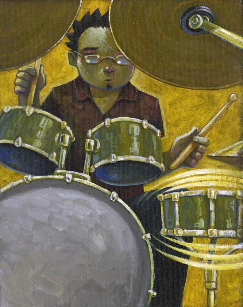 The Drummer by jasinski