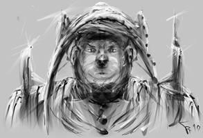 bear-human warrior by tombru