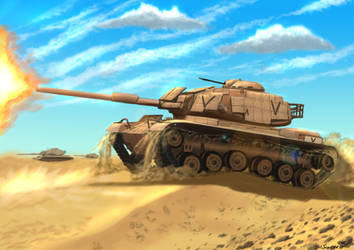M60A1 with ERA by Sincress
