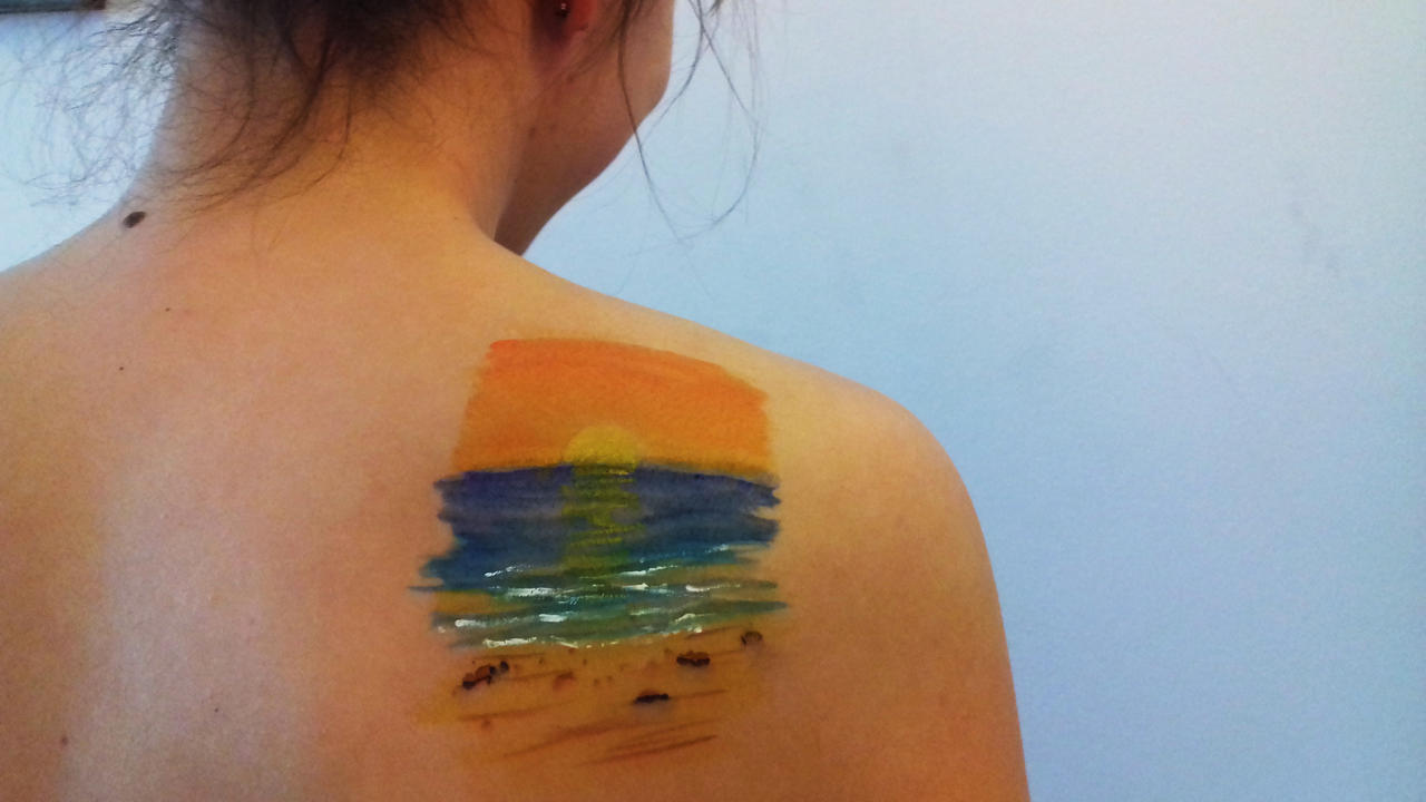 Sunset Body Painting By Sincress On Deviantart