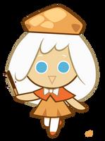 : Cream Puff Cookie : by MysteryCorner