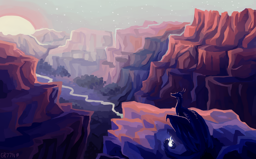 Sunrise over the Canyons