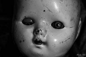 Close Up Creepy Doll Face