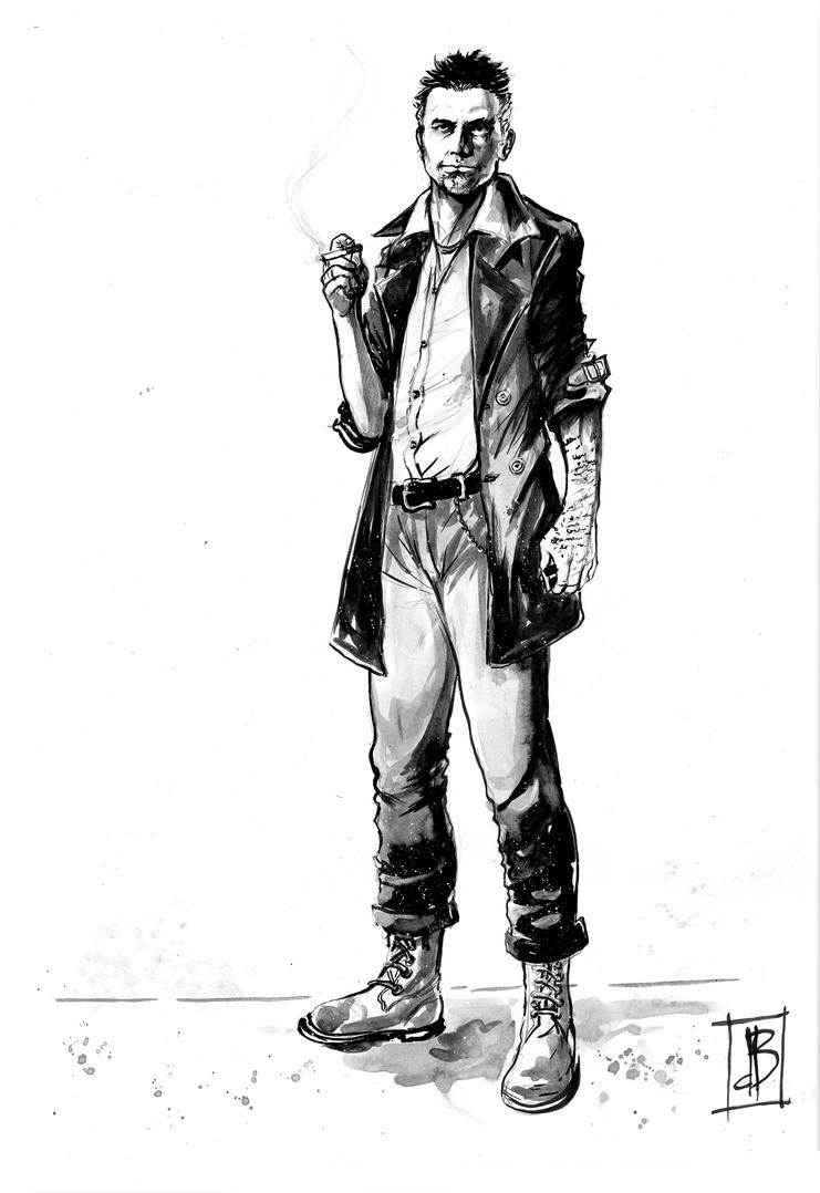 Dalston Prior Character Sketch by SilviodB by Drew-Writer