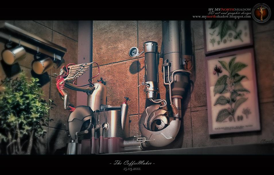 3D Scene - The Coffeemaker by mynorthshadow
