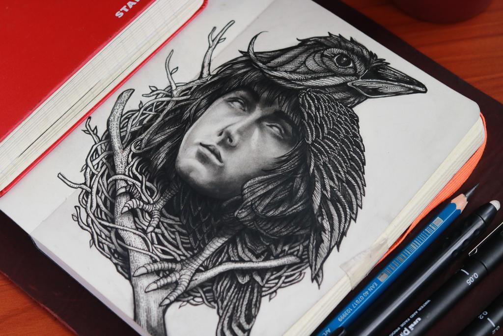 Three Eyed Raven by amao2006