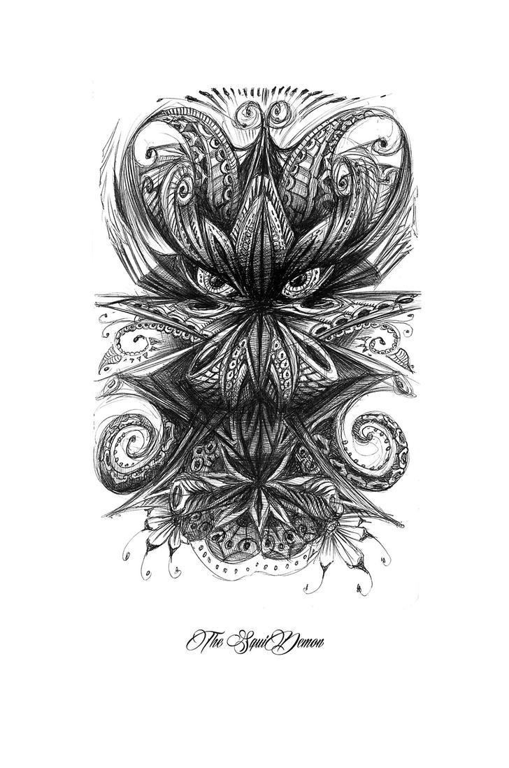 Squidemon by bennett klein on deviantart for Bennett klein coloring pages