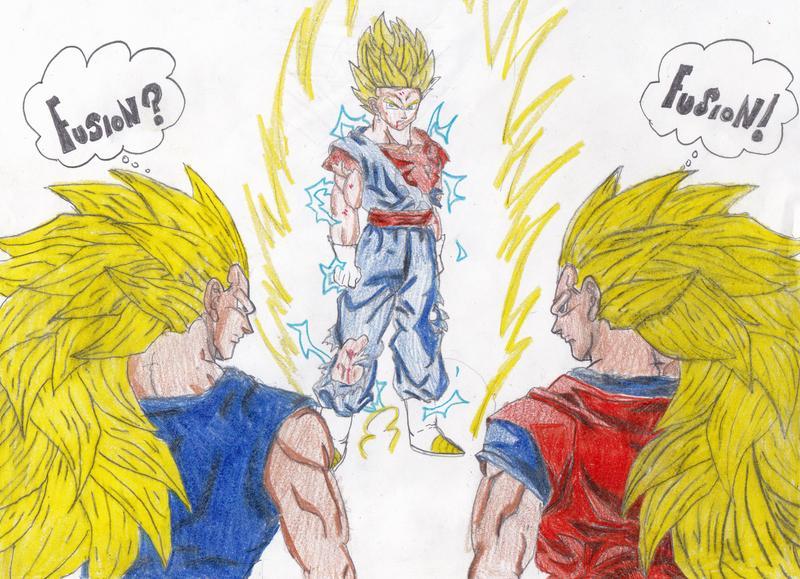 Goku Ssj4 Vs Goku Ssj3: SSJ3 Vegeta And SSJ3 Goku VS SSJ2 Vegito By KorSJK On