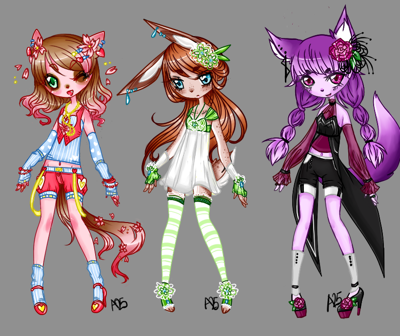 Spring/Summer Flower Adopts .:OPEN:. by EmrysaAlbiona