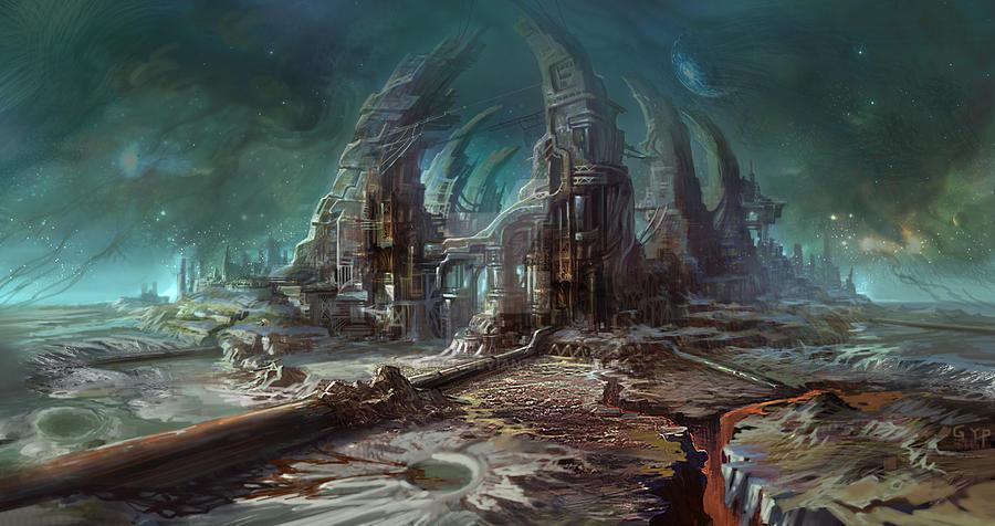 Философия в картинках - Страница 3 Space_station_by_gypcg-d4inhhf
