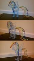 Wire Rainbow Dash Painted