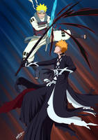 Naruto vs Ichigo by mario-reg