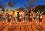 Sunset dancers