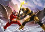 Quantum Ranger VS Gold Samurai Ranger