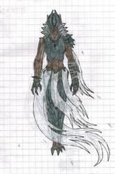 Ith'ryuu, the half witch (colored) by DeltashockOmnihorn