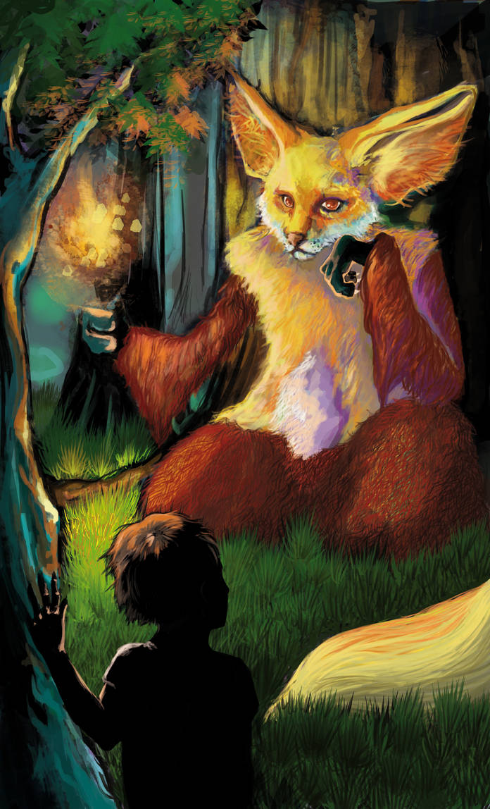 Delphox at midnight by Itqual