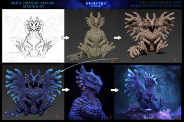 MAKING OF - SPACE DRAGON ARELIM by ERA-7