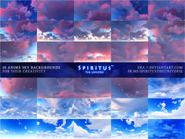30 ANIME SKY BACKGROUNDS - PACK 5 by ERA-7