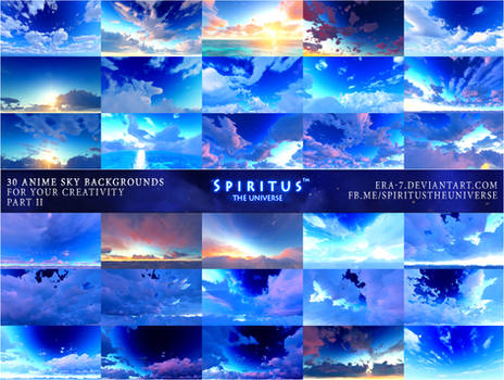 30 ANIME SKY BACKGROUNDS - PACK 7