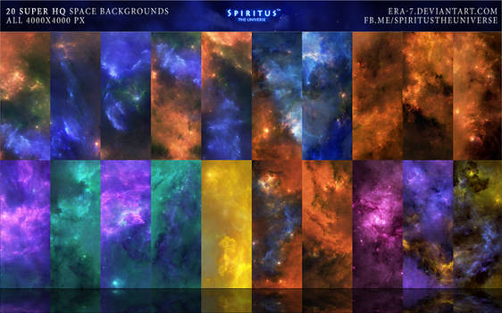 20 SUPER HQ SPACE BACKGROUNDS - PACK 16