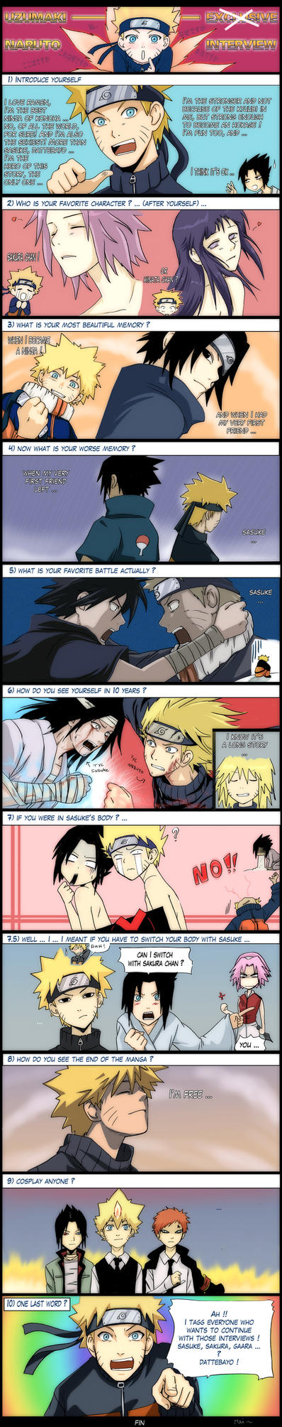 Naruto interview by kuro-mai