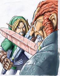 Ganondorf vs Link by Mundokk