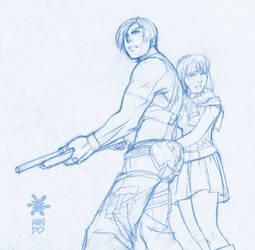 Resident Evil 4 Sketch by Mundokk