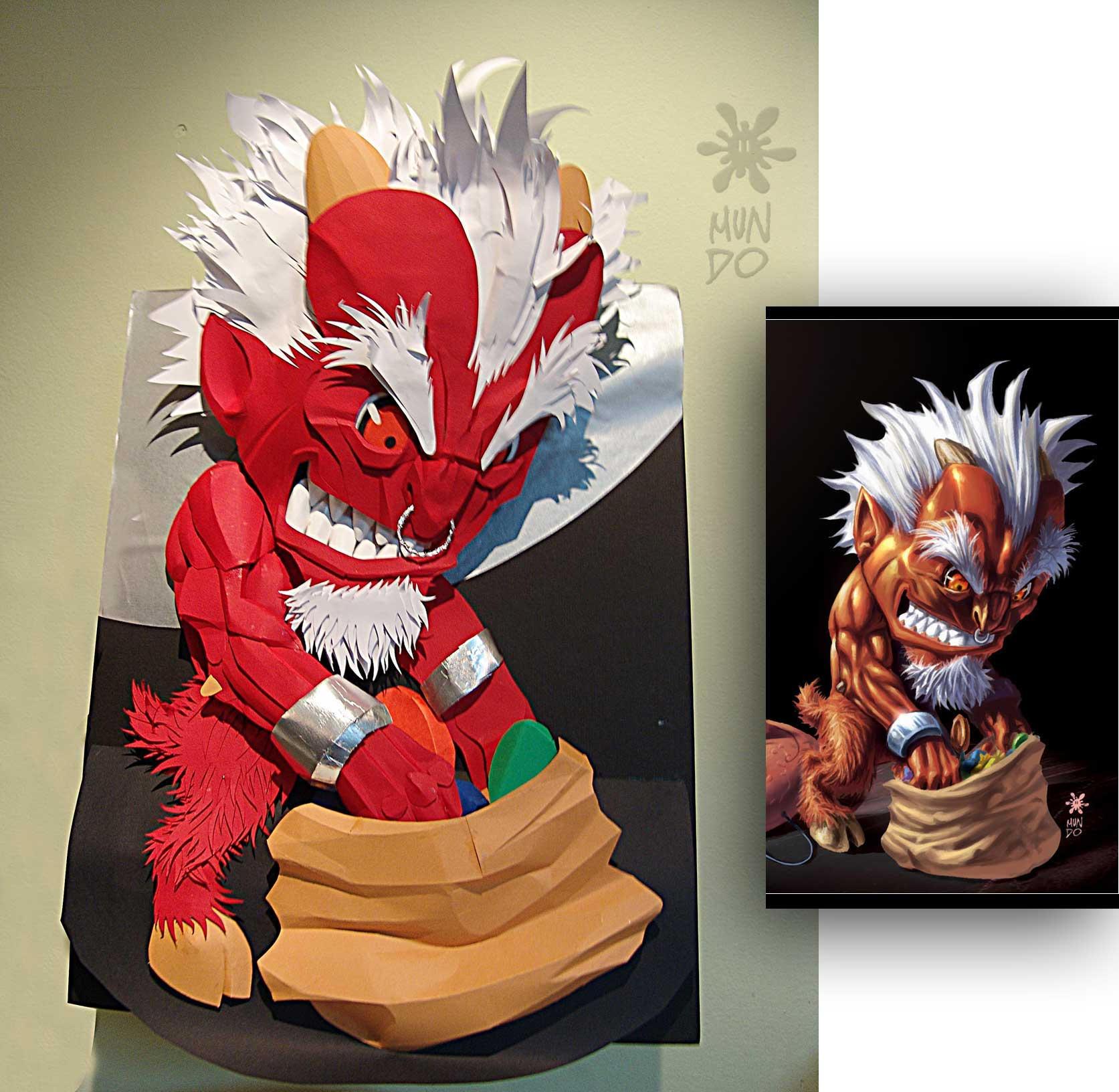 Paper craft devil by Mundokk
