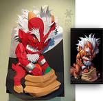 Paper craft devil