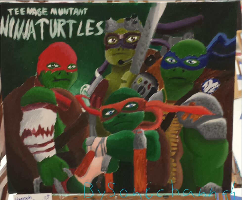 Teenage Mutant Ninja Turtles Painting by sonichannah