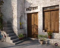 Mediterranean old house by 4Dragon84