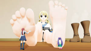 Worshipping Lucy's Feet