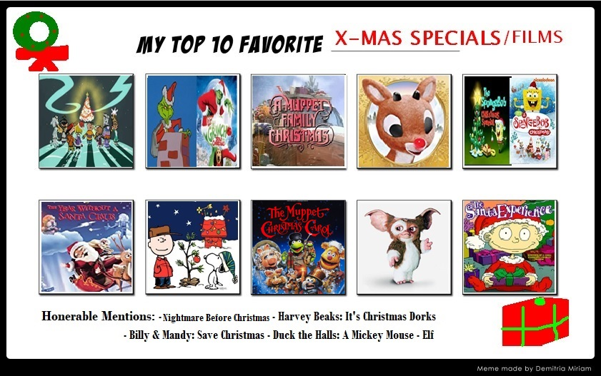 Best Christmas Specials.Top 10 Favorite Christmas Special Film By Manicmagician On