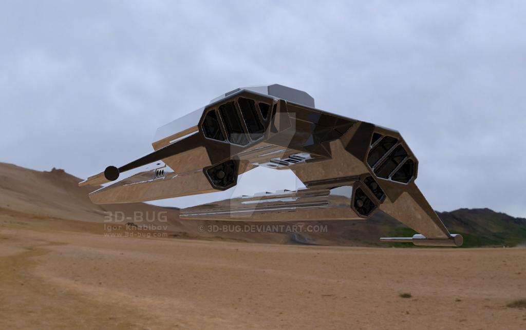 dropship WIP 3 by 3D-BUG