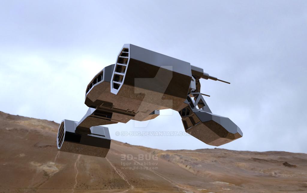 dropship WIP 7 by 3D-BUG