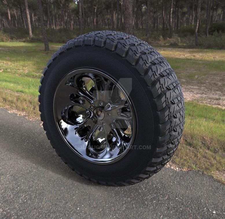 Truck Wheel by 3D-BUG