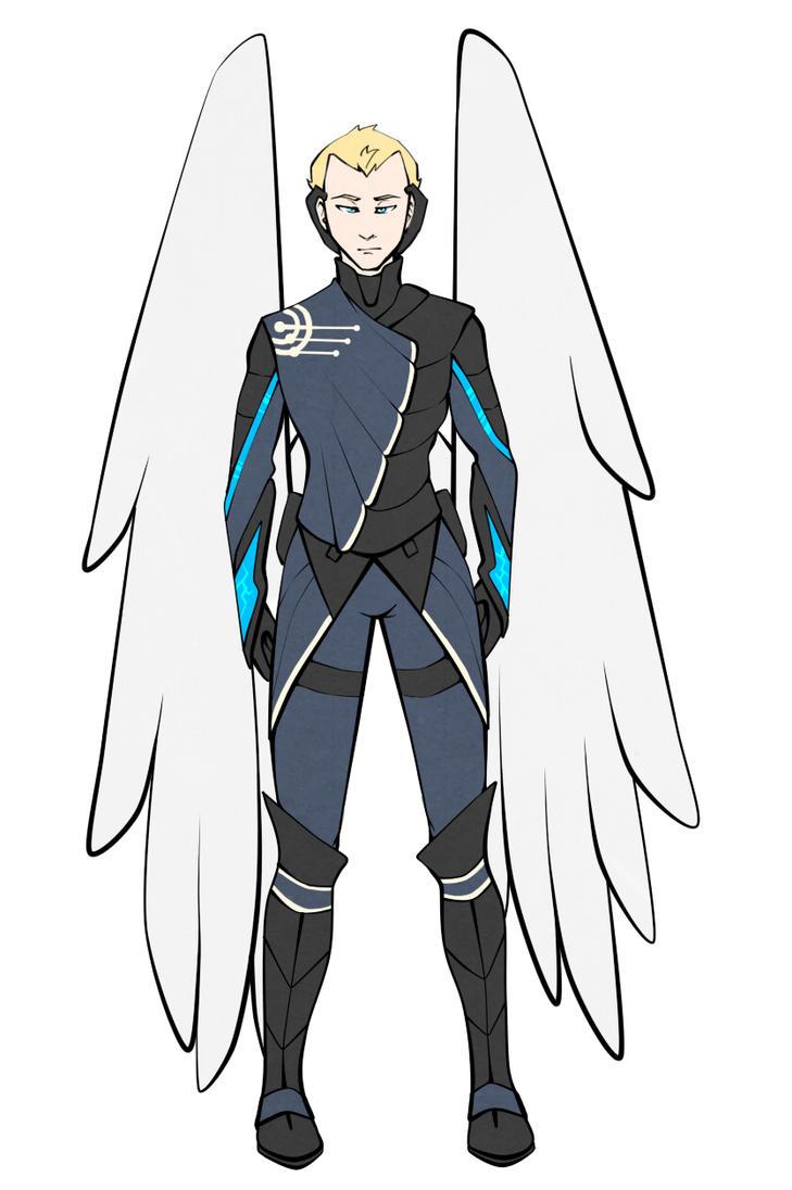 Falling West Angel Armor by CheleKat