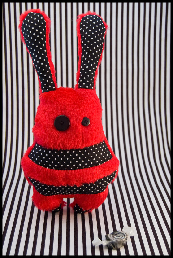 BunnyBoo Plush Red Fluff by MonstriBoo