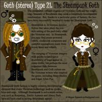 Goth Type 21: Steampunk Goth by Trellia