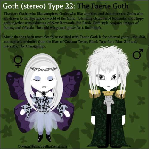 Goth Type 22: The Faerie Goth by Trellia