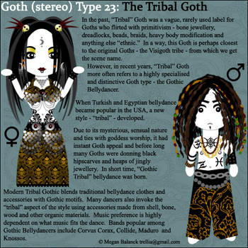 Goth Type 23: The Tribal Goth by Trellia