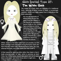 Goth Type 27: The White Goth by Trellia