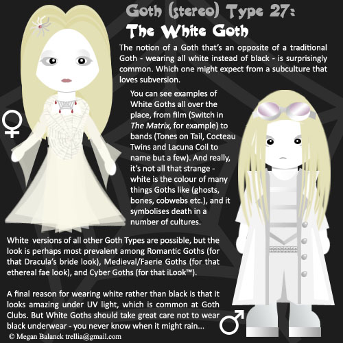 Goth Type 27: The White Goth by Trellia