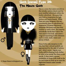 Goth Type 29: The Haute Goth