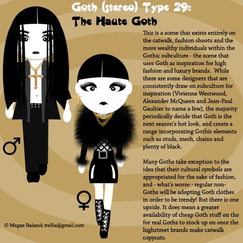 Goth Type 29: The Haute Goth by Trellia