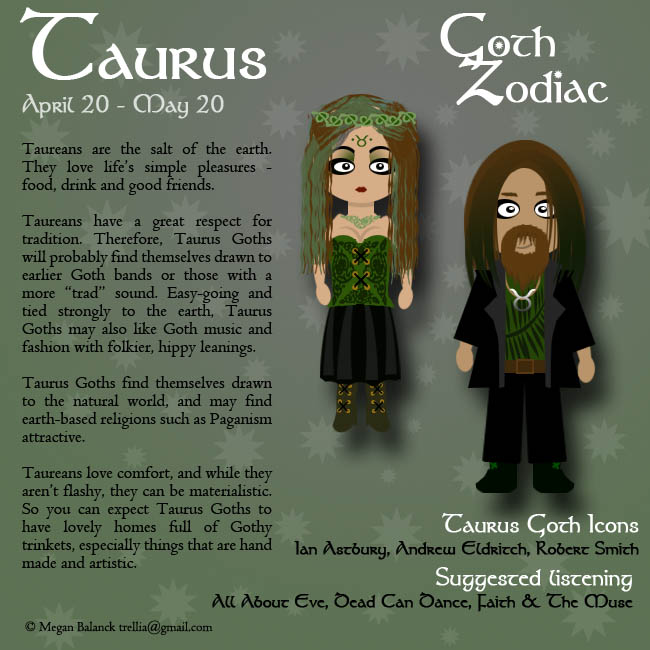 Goth Zodiac: Taurus by Trellia