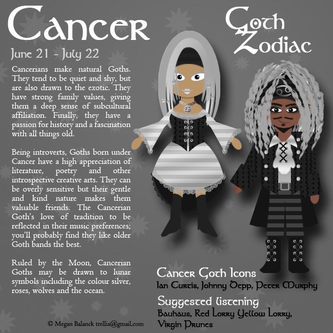 Goth Zodiac: Cancer by Trellia