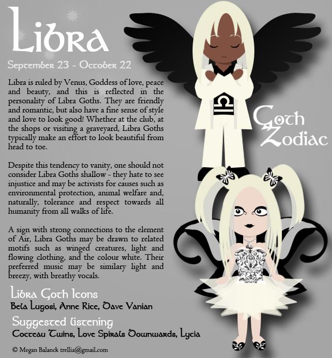 Goth Zodiac: Libra by Trellia