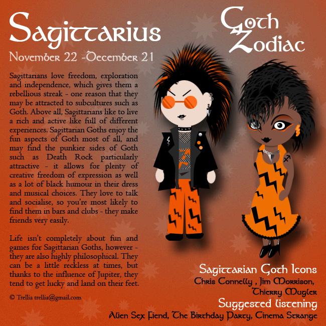 Goth Zodiac: Sagittarius by Trellia