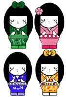 Kaguya Hime Costumes by Trellia